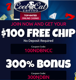 Coolcat casino 100free chip