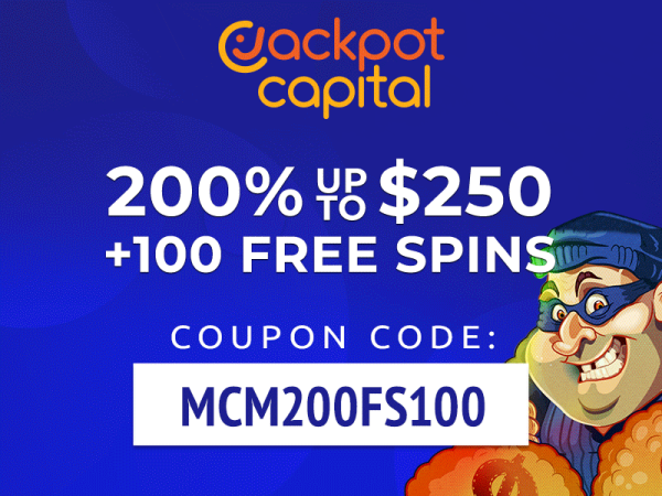 jackpot capital casino exclusive offer MCM 100 free spins