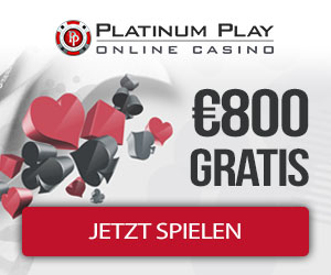 Platinum Play Casino 800 free bonus