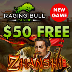 50 free spins raging bull