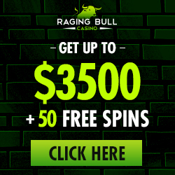 Raging Bull 350% Bonus and 50 Free Spins