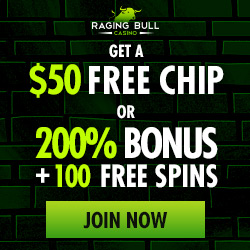 Raging Bull Casino $50 free chip no deposit