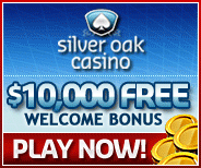 $10,000 match up bonus at silever oak crazy bonus