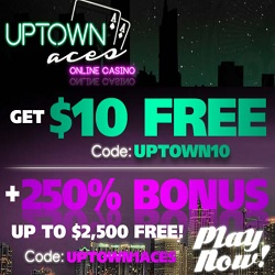 uptown aces casino $10free