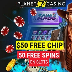 Planet 7 casino 50free chip 50free spins