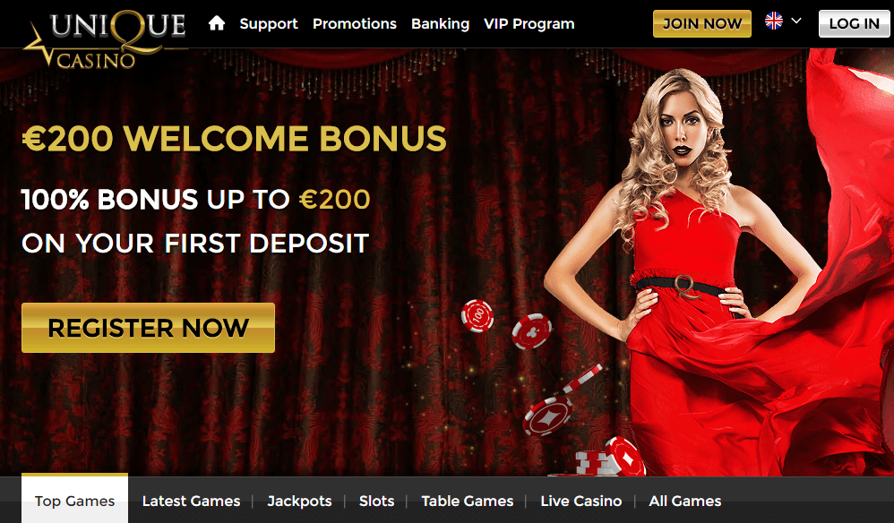 Unique casino 10 free spins sign up